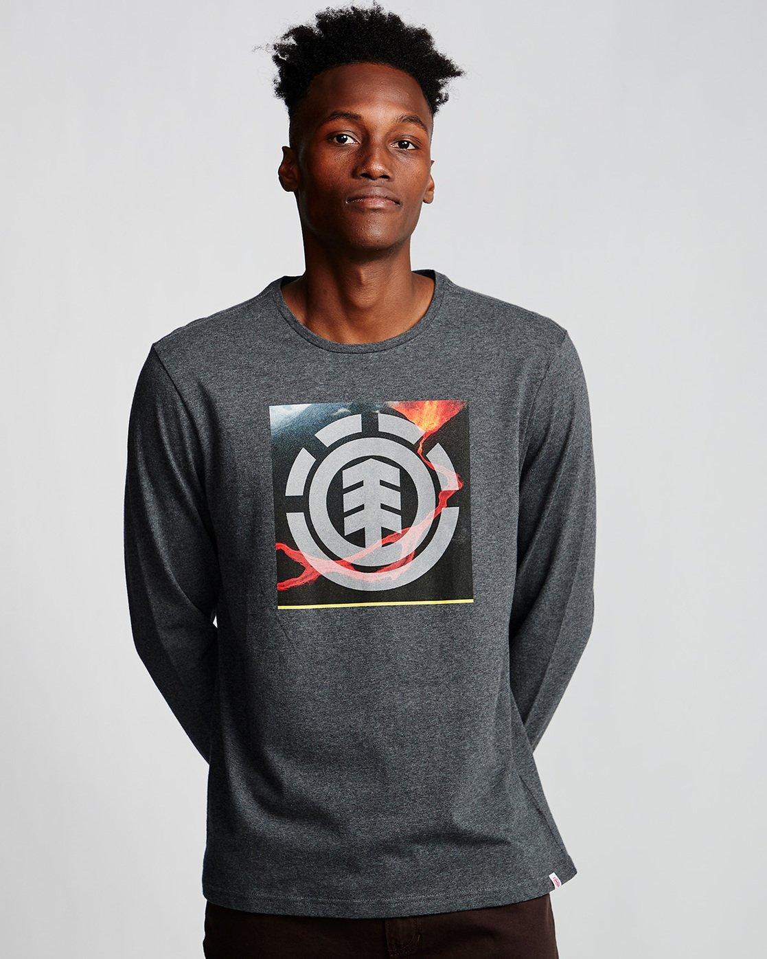 0 Surge Icon - Long Sleeve T-Shirt Grey Q1LSC3ELF9 Element