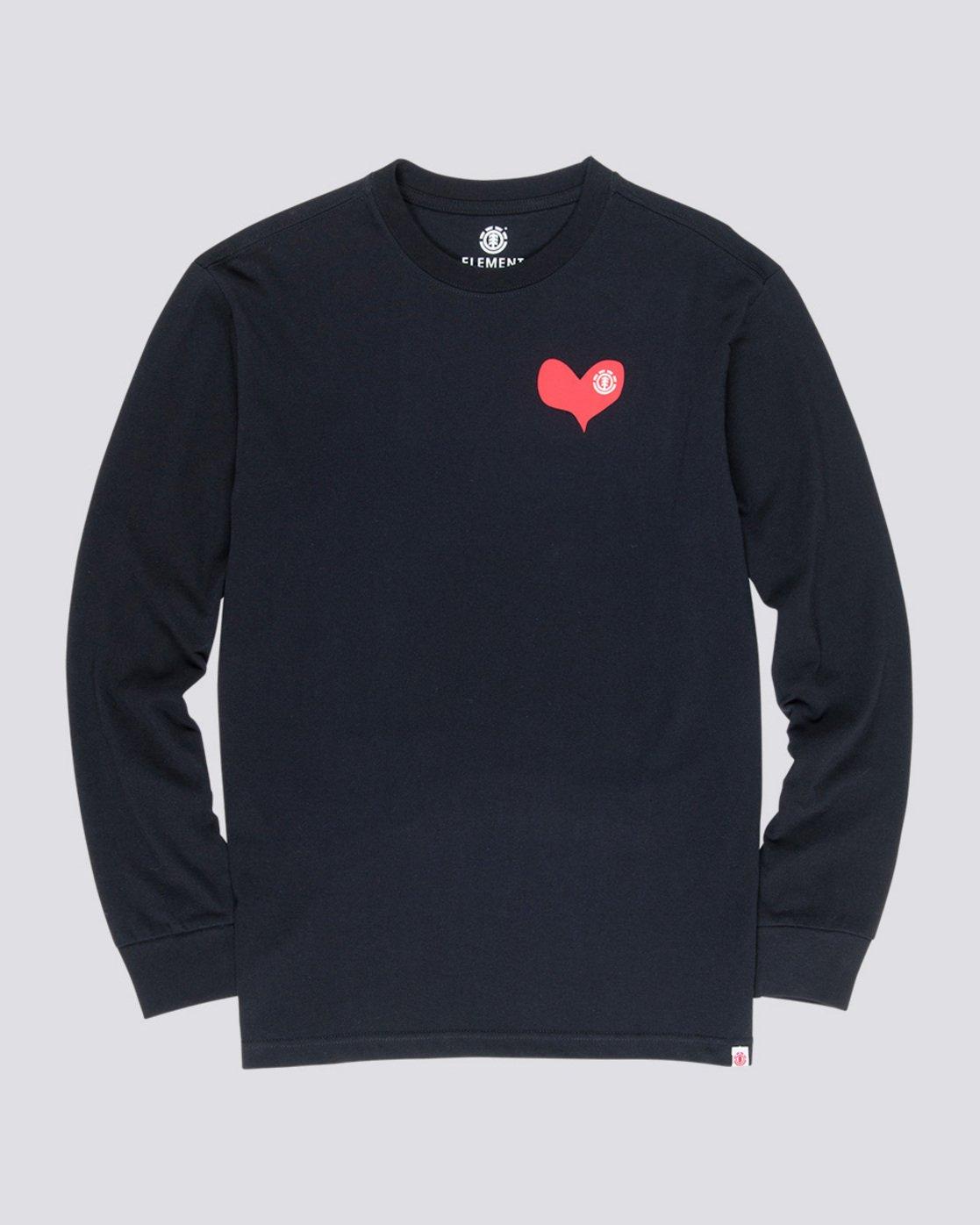 3 Barley - Long Sleeve T-Shirt Black Q1LSC6ELF9 Element