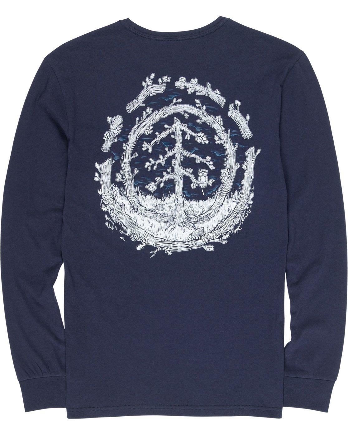 6 Too Late Logo - Longsleeve für Männer Blau Q1LSC9ELF9 Element