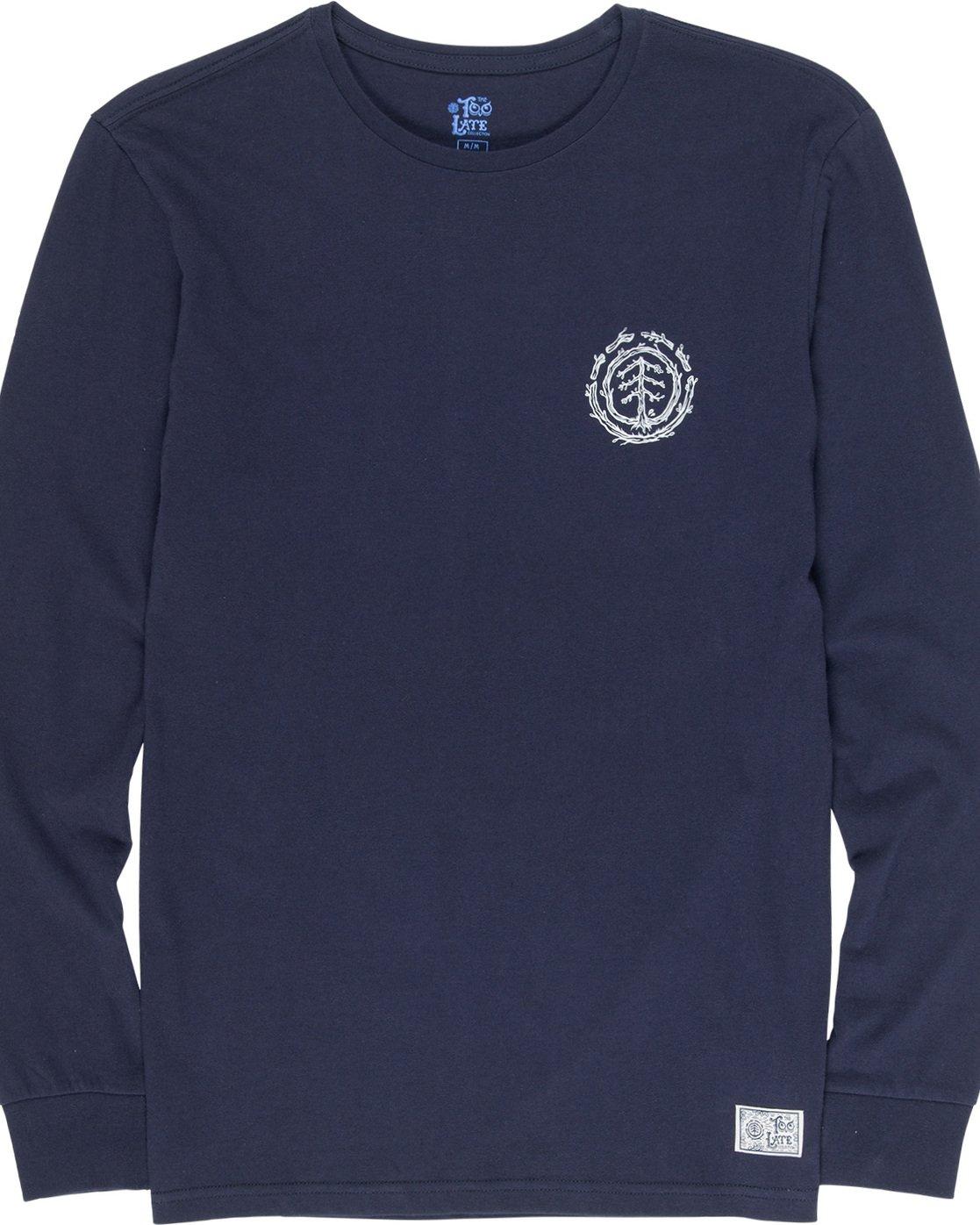 5 Too Late Logo - Longsleeve für Männer Blau Q1LSC9ELF9 Element