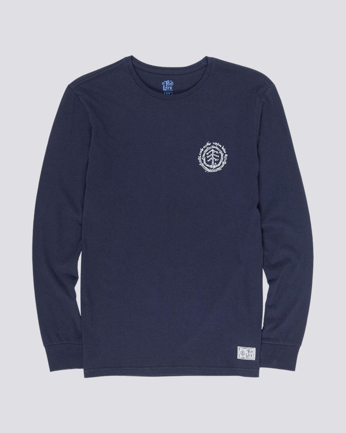 3 Too Late Logo - Longsleeve für Männer Blau Q1LSC9ELF9 Element