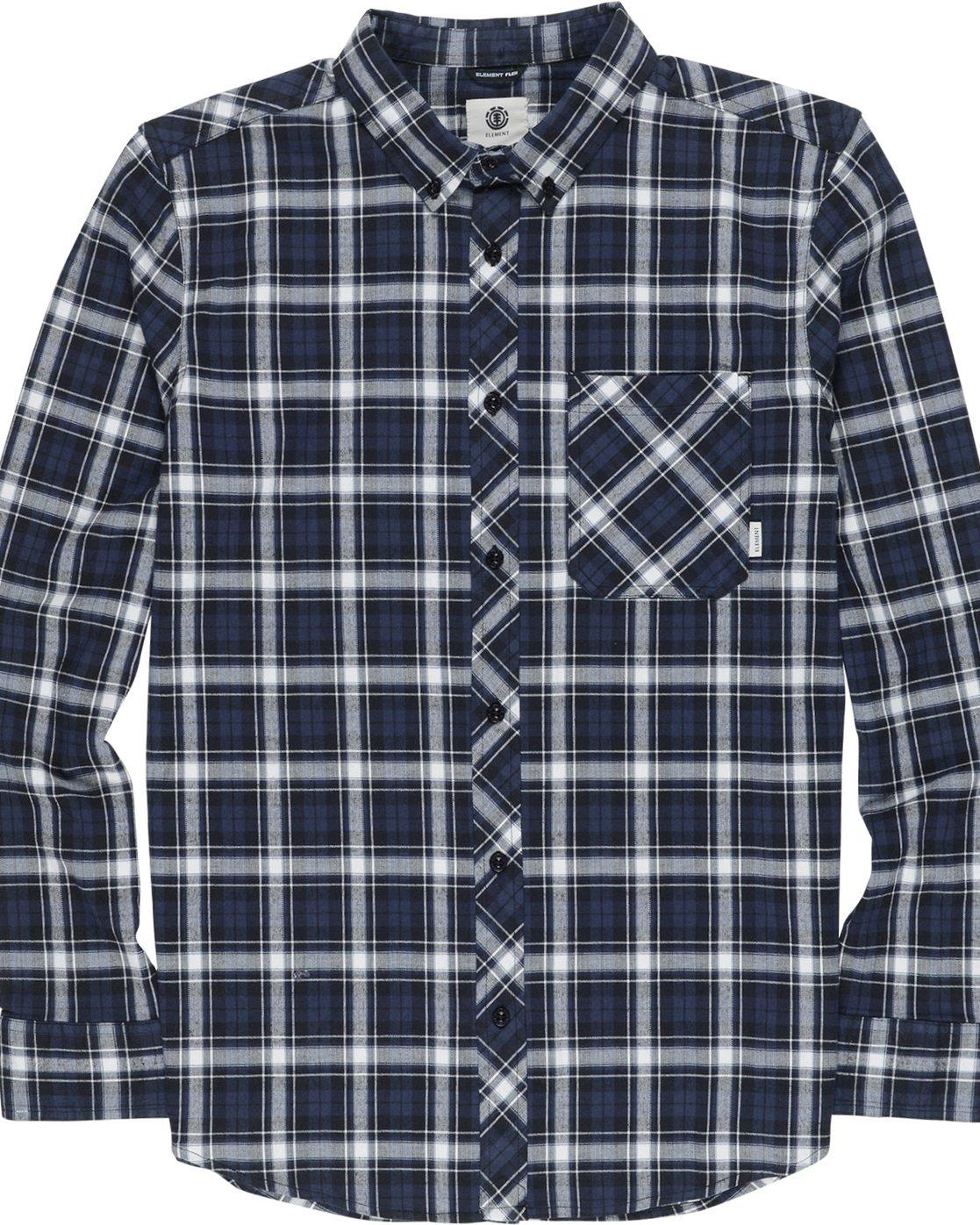4 Lumber Classic - Long Sleeve Shirt Black Q1SHA3ELF9 Element