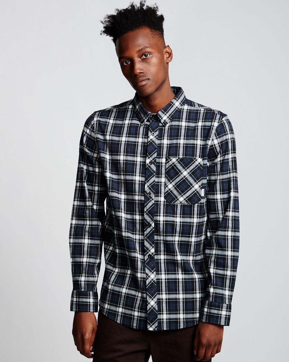 0 Lumber Classic - Long Sleeve Shirt Black Q1SHA3ELF9 Element