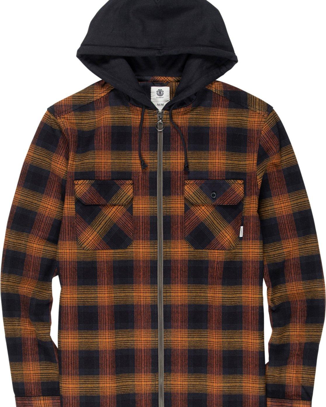 4 Wentworth Shadow - Hooded Long Sleeve Shirt  Q1SHA8ELF9 Element