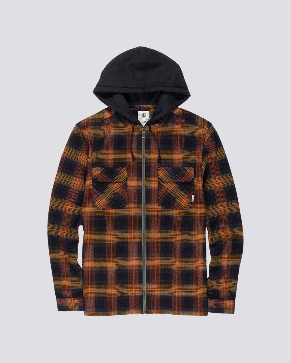 3 Wentworth Shadow - Hooded Long Sleeve Shirt  Q1SHA8ELF9 Element