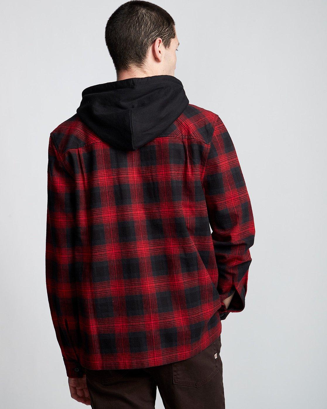 2 Wentworth Shadow - Chemise à capuche et manches longues pour Homme Rouge Q1SHA8ELF9 Element