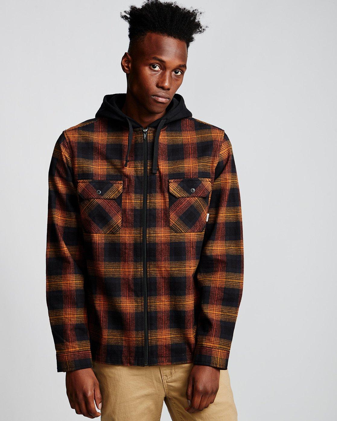 0 Wentworth Shadow - Hooded Long Sleeve Shirt  Q1SHA8ELF9 Element