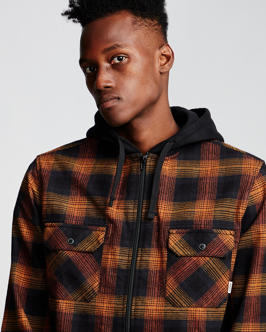 1 Wentworth Shadow - Hooded Long Sleeve Shirt  Q1SHA8ELF9 Element