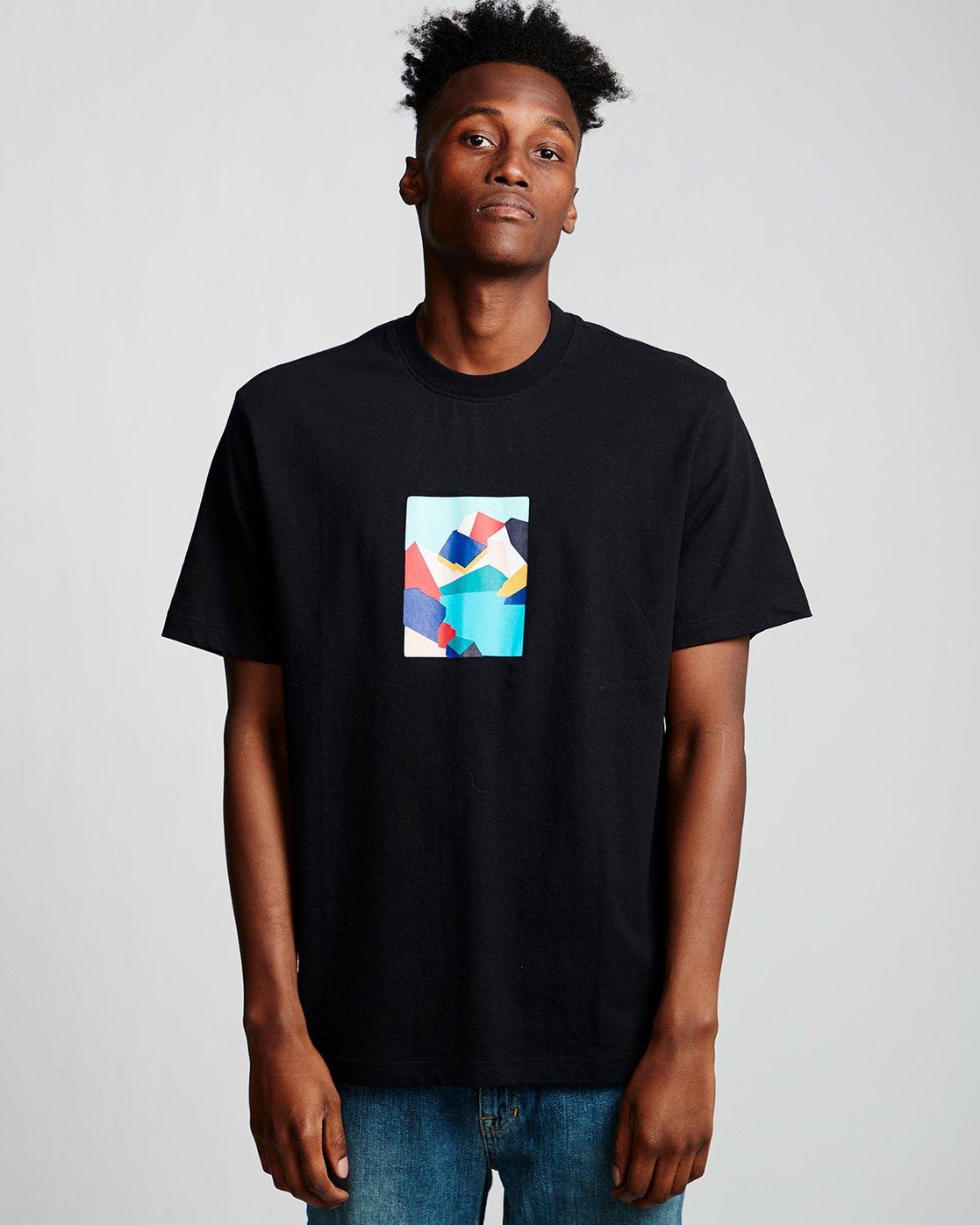 0 SD - T-Shirt Black Q1SSA3ELF9 Element