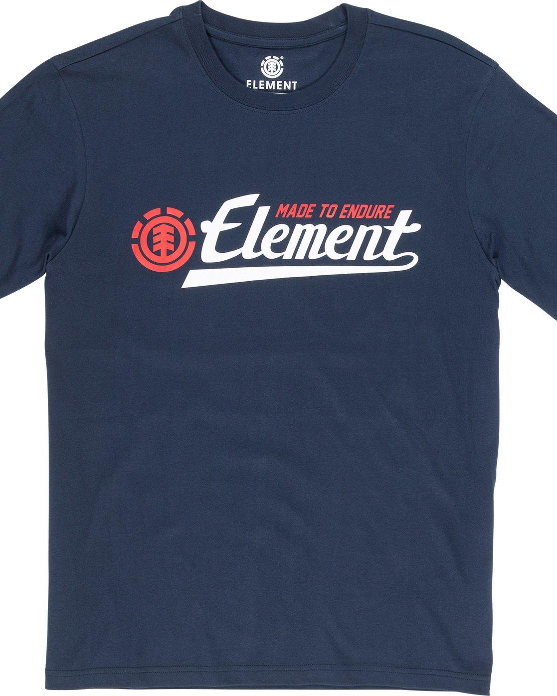 4 Signature - Maglietta da Uomo Blue Q1SSA9ELF9 Element