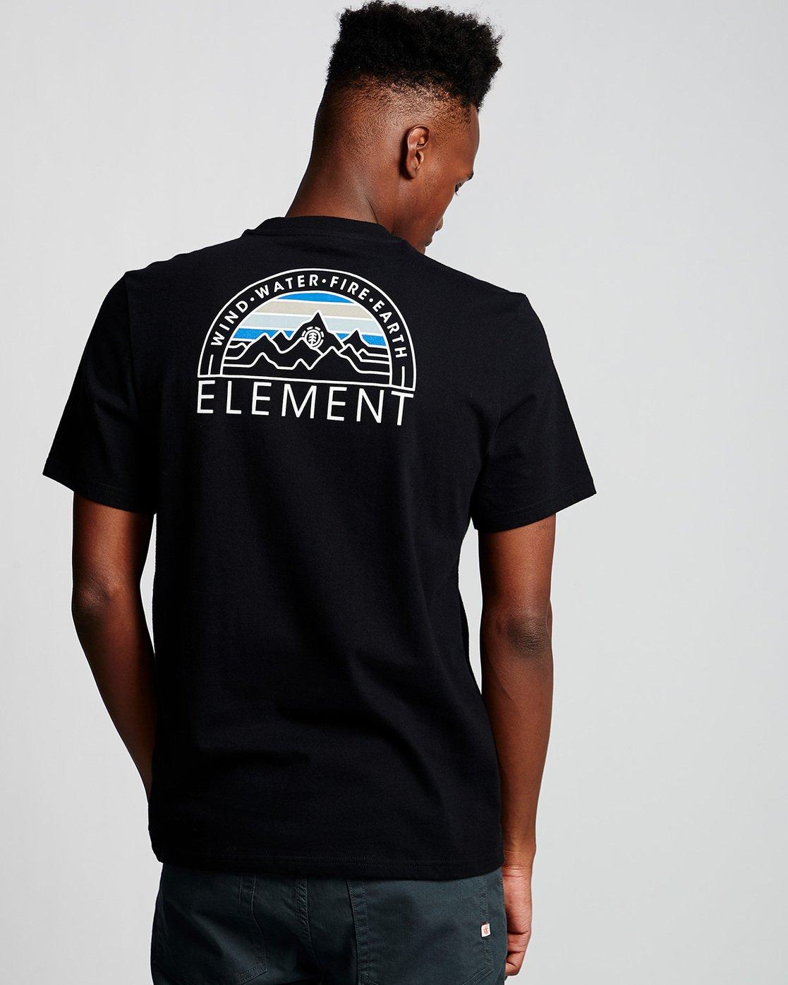 2 Odyssey - T-Shirt Black Q1SSC8ELF9 Element