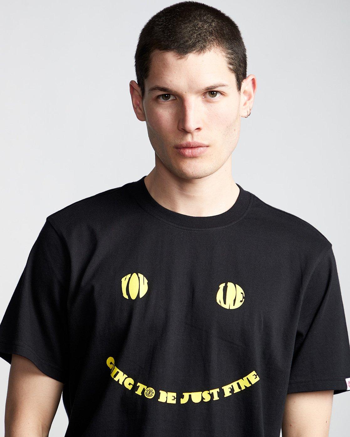 1 Twilight - T-Shirt Black Q1SSD9ELF9 Element