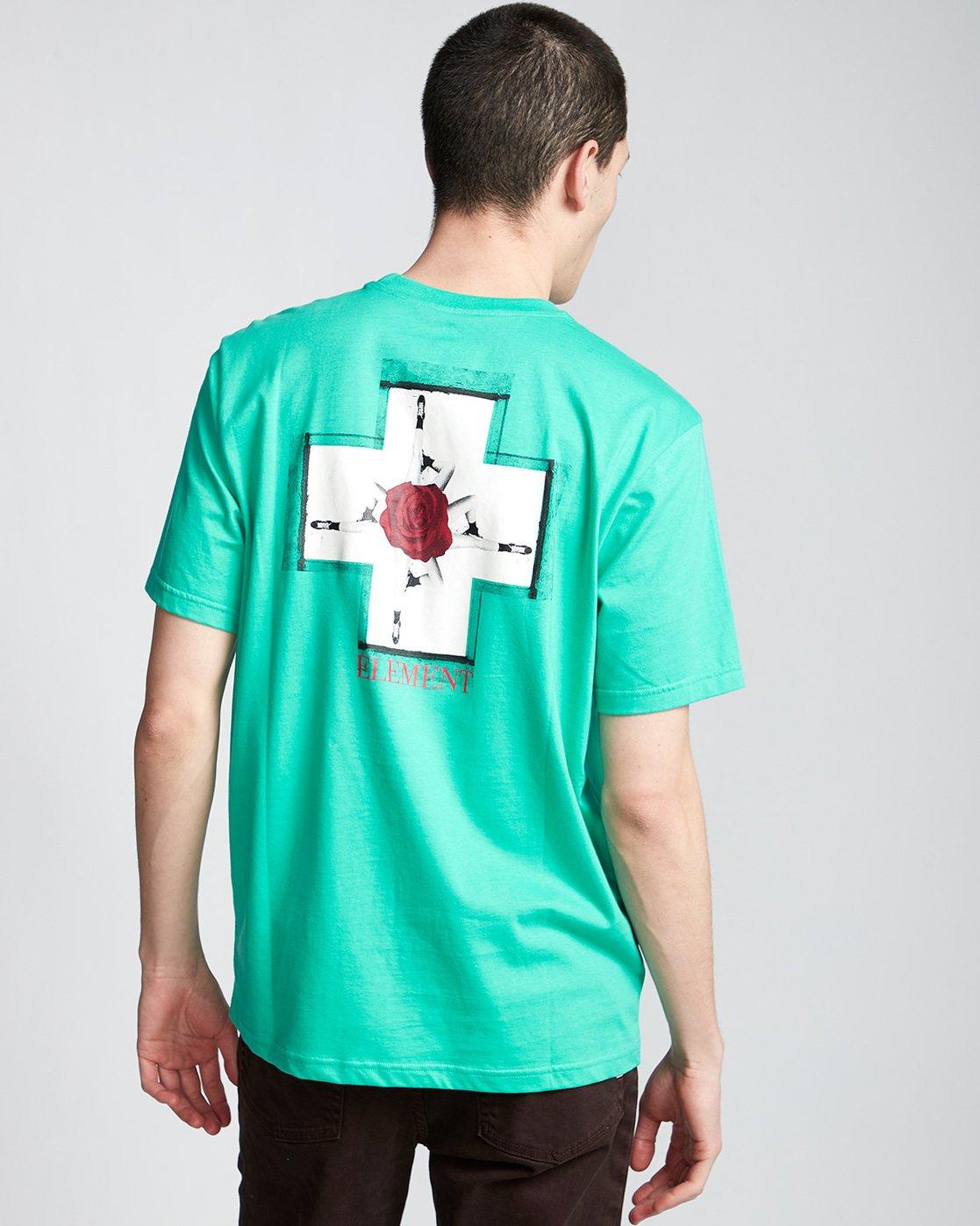 2 Burst - T-Shirt Green Q1SSE1ELF9 Element
