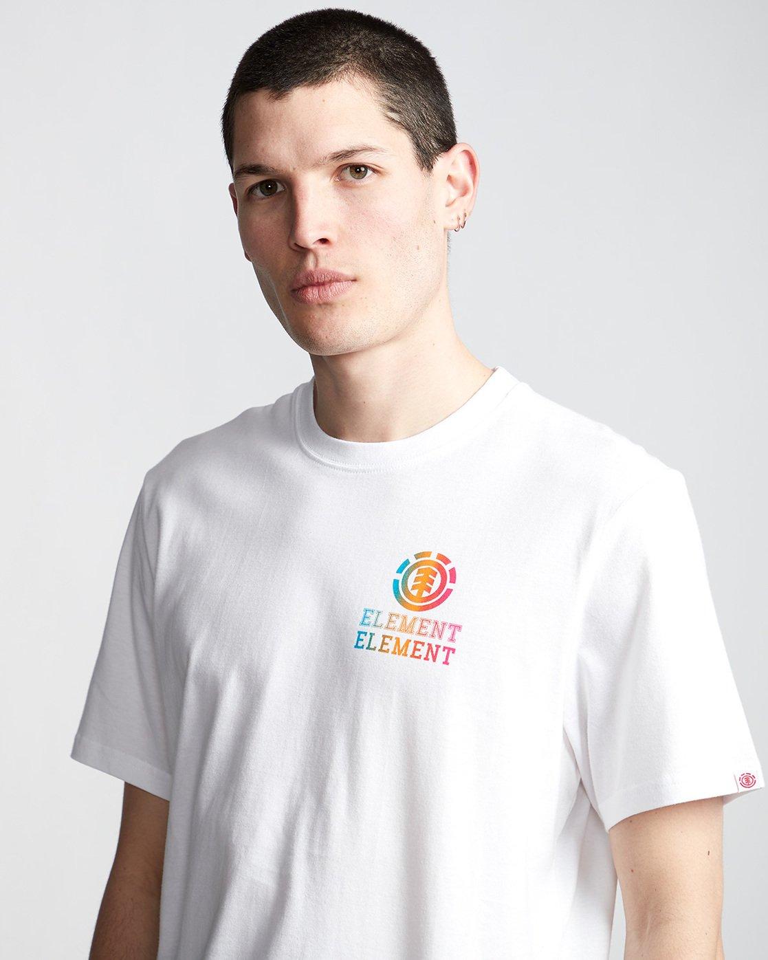 1 Drop - Maglietta da Uomo White Q1SSE4ELF9 Element