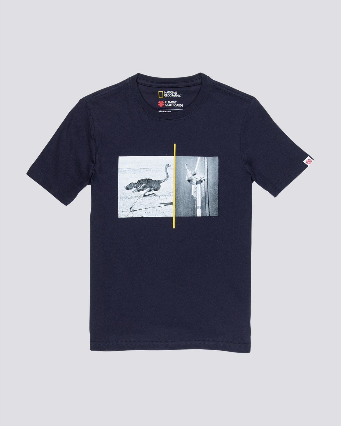 3 Ostrich Apse - T-Shirt Blue Q1SSF2ELF9 Element