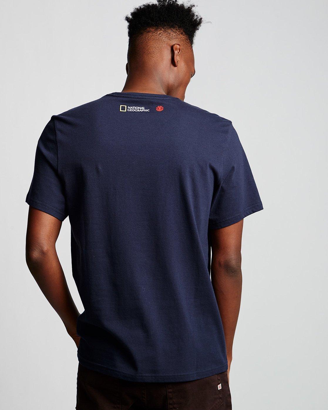 2 Ostrich Apse - T-Shirt Blue Q1SSF2ELF9 Element