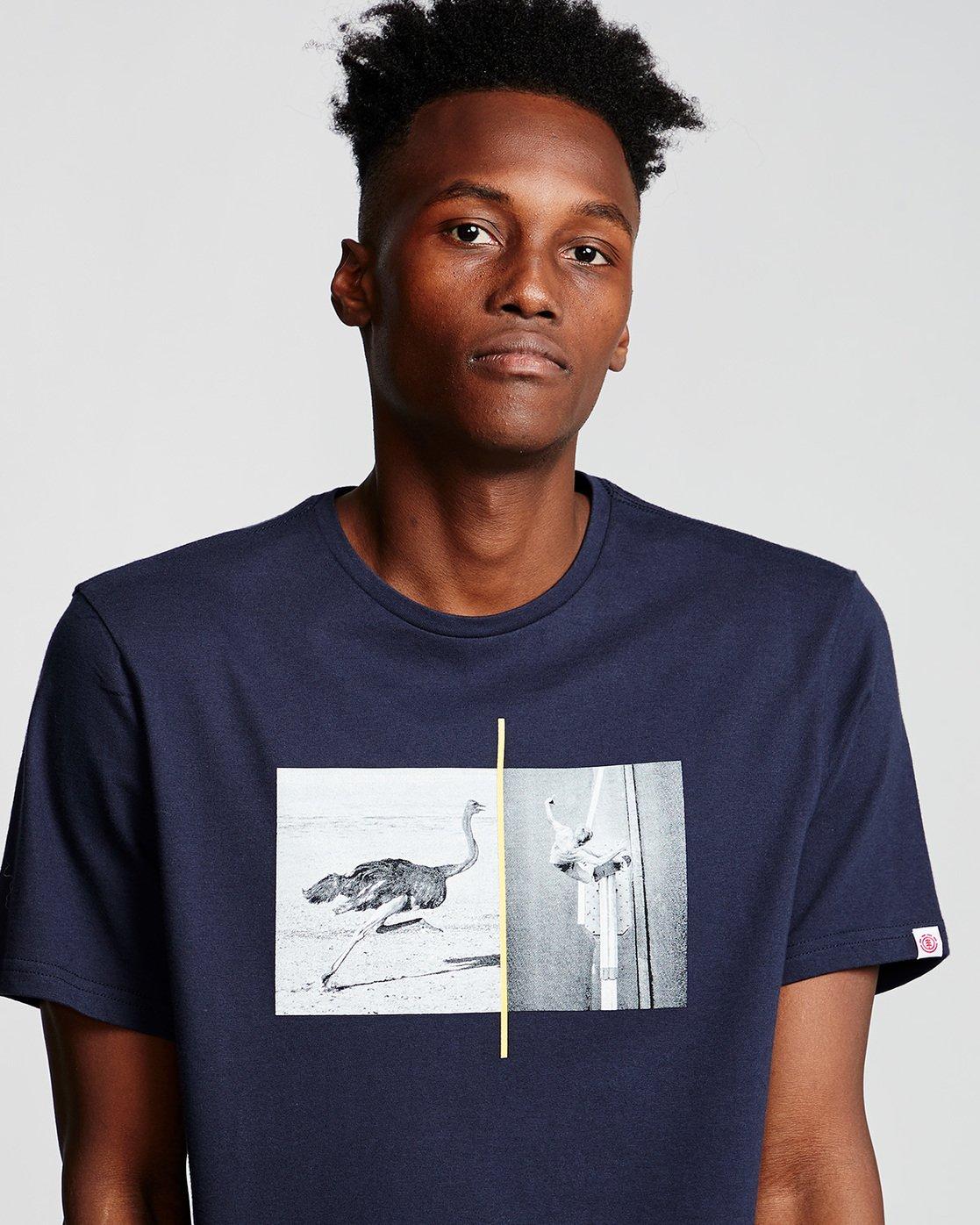 1 Ostrich Apse - T-Shirt Blue Q1SSF2ELF9 Element