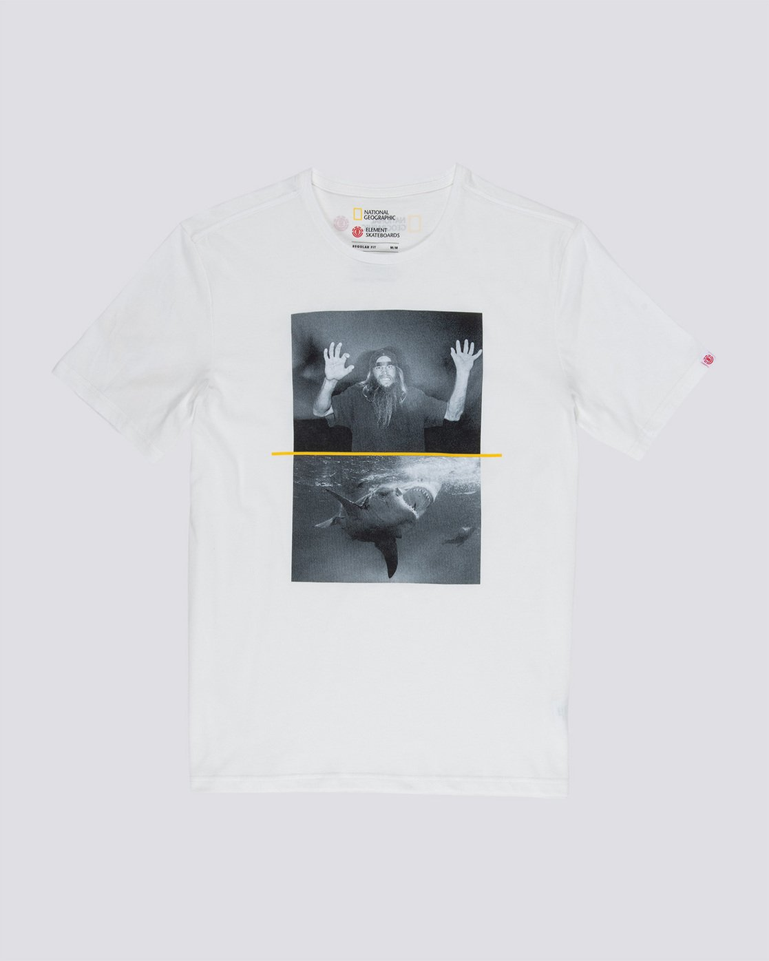 3 Shark Fletcher - T-Shirt White Q1SSF3ELF9 Element
