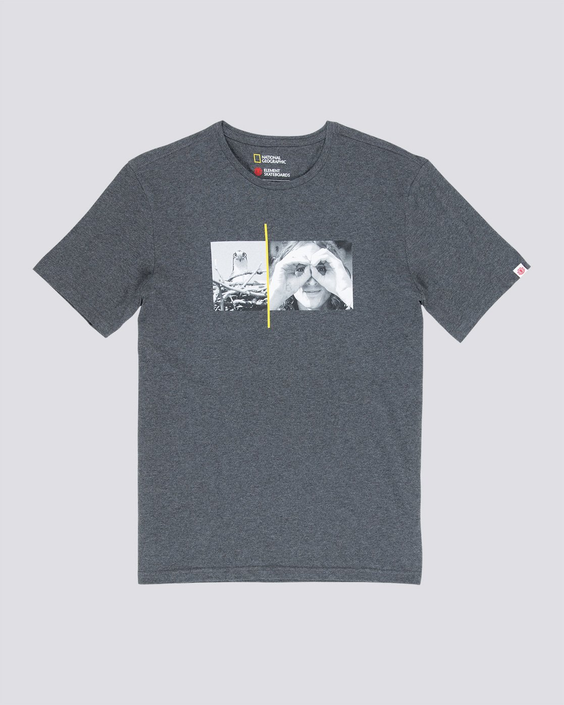 3 Hawk Smith - T-Shirt Grey Q1SSF4ELF9 Element