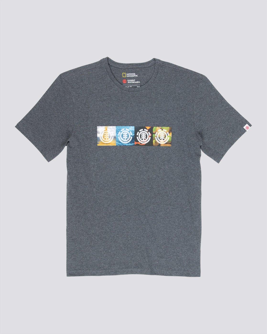 3 Horizontal Seasons - T-Shirt Grey Q1SSG2ELF9 Element