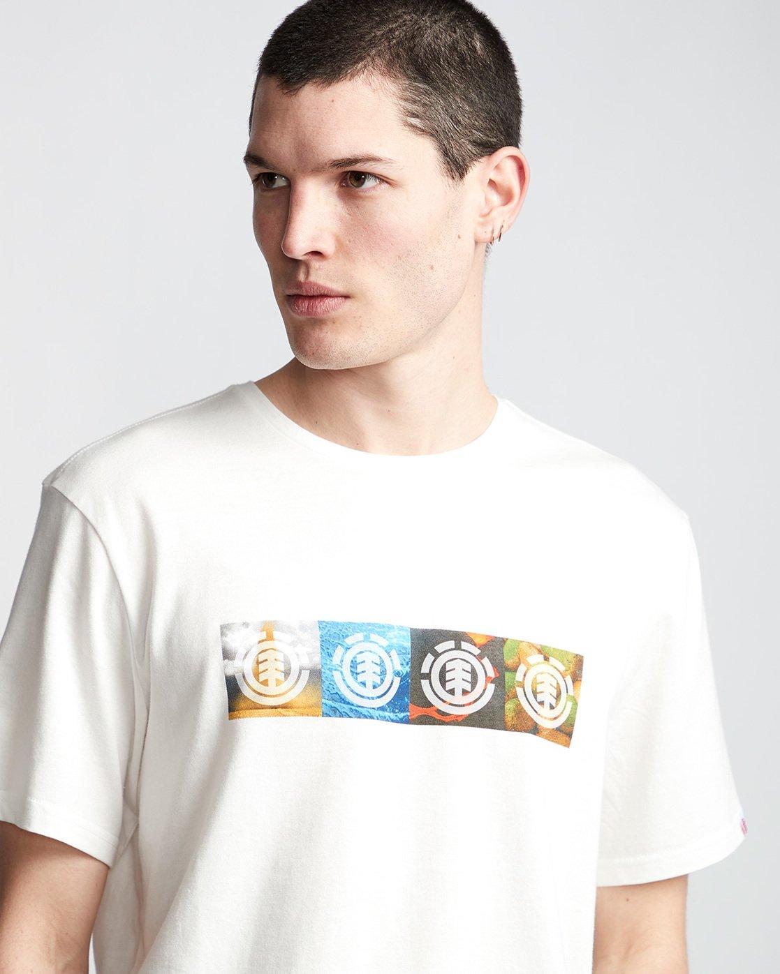 1 Horizontal Seasons - T-Shirt White Q1SSG2ELF9 Element