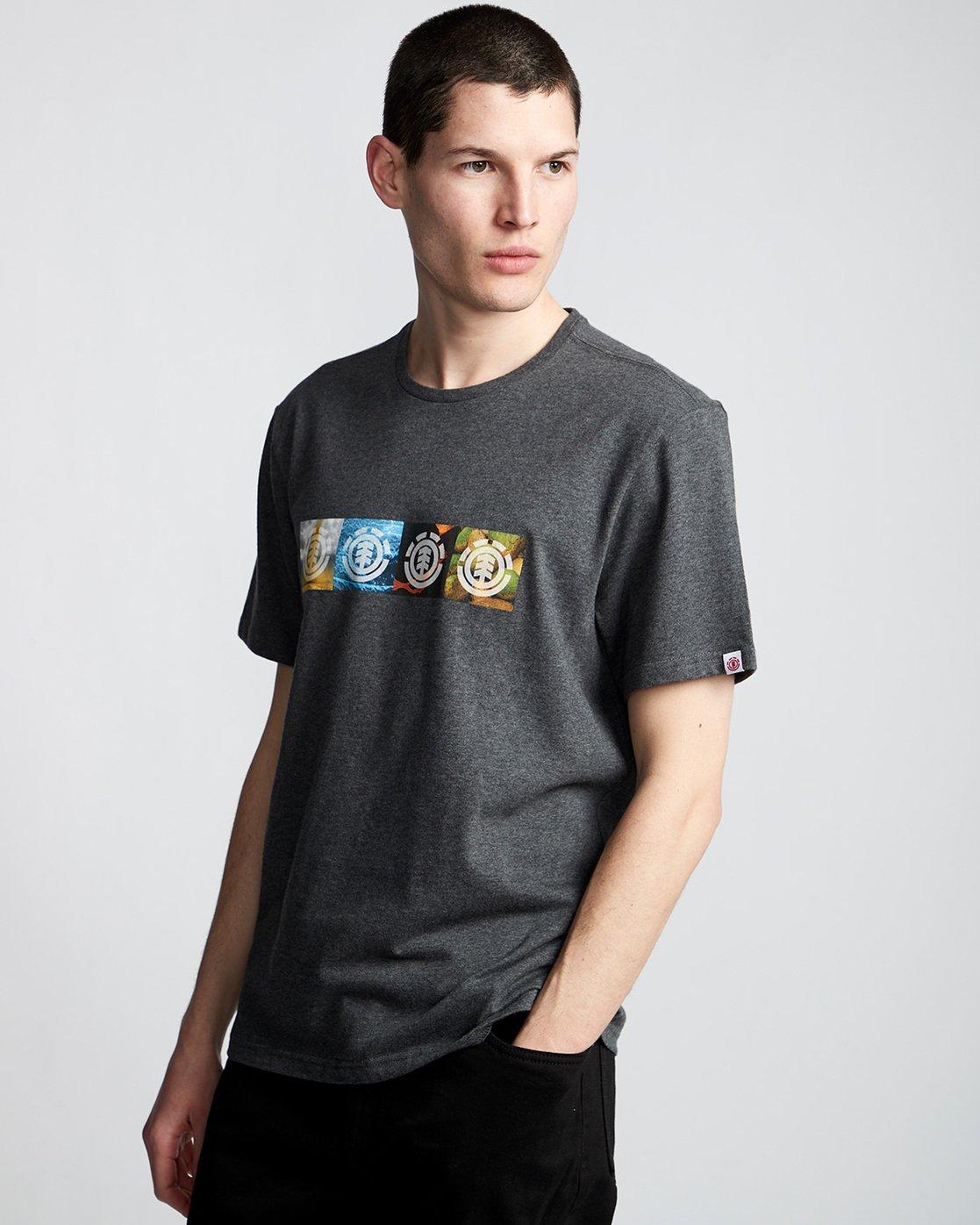 0 Horizontal Seasons - T-Shirt Grey Q1SSG2ELF9 Element