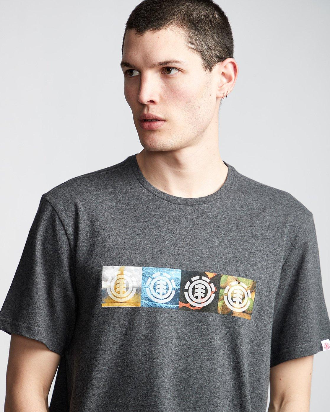 1 Horizontal Seasons - T-Shirt Grey Q1SSG2ELF9 Element