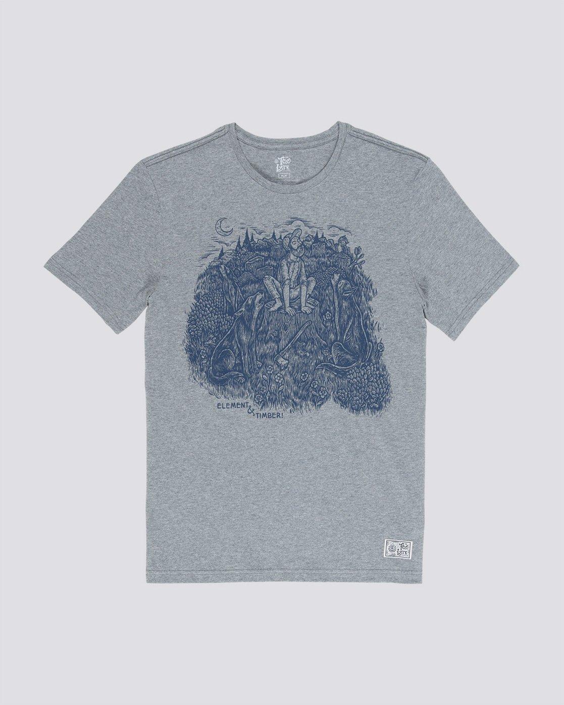 3 Howl - T-Shirt für Männer Grau Q1SSH5ELF9 Element