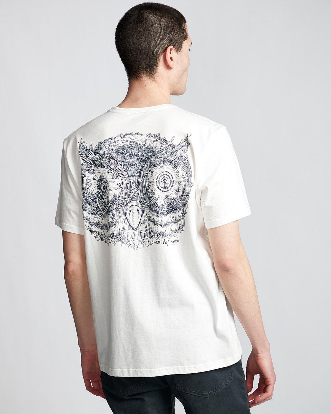 2 In The Owl - T-Shirt White Q1SSH8ELF9 Element