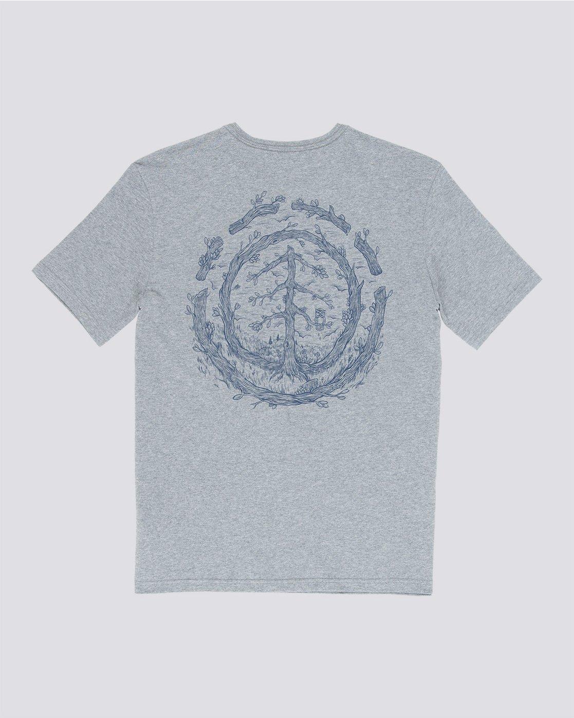 4 Too Late Logo - T-Shirt Grey Q1SSH9ELF9 Element