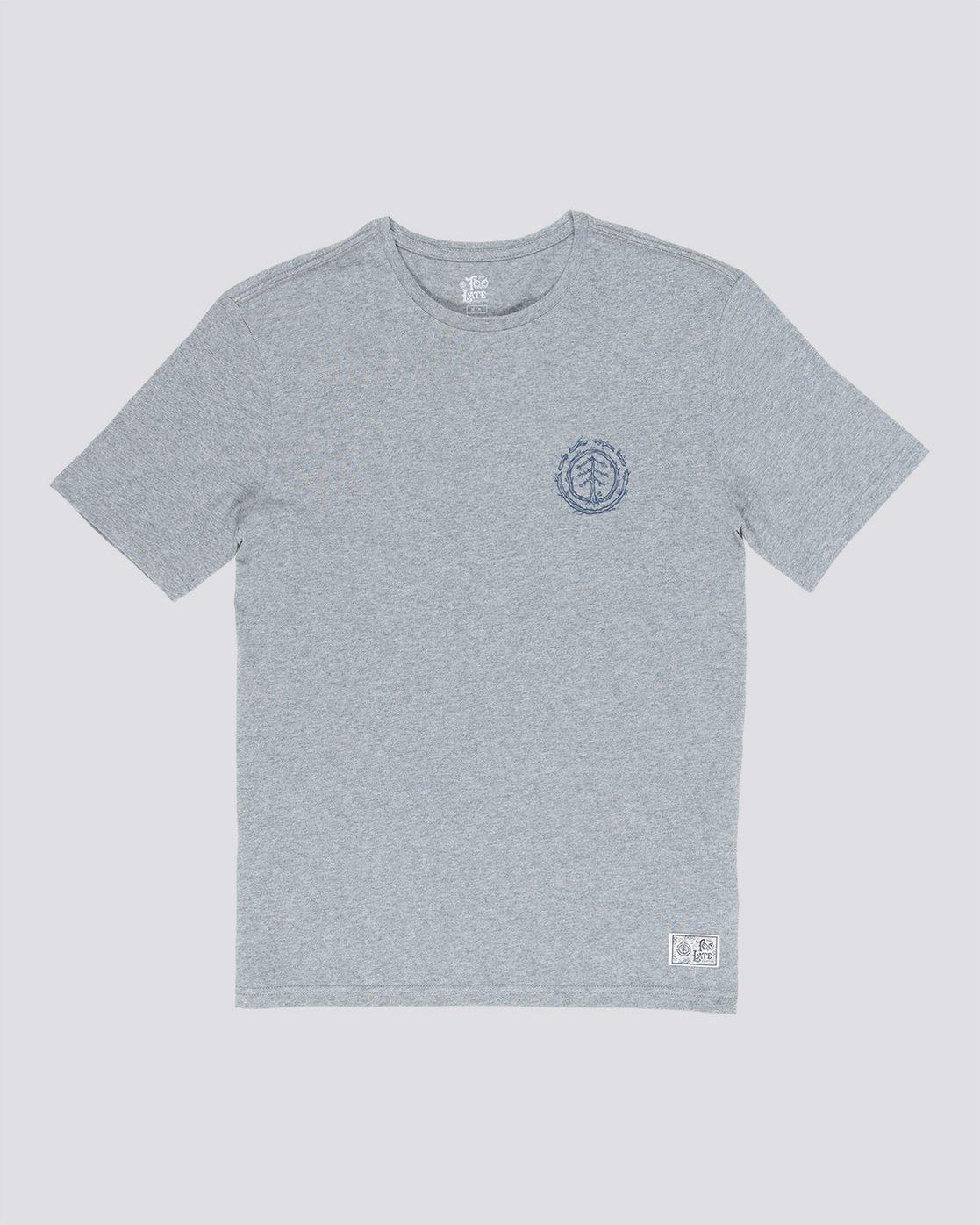 3 Too Late Logo - T-Shirt Grey Q1SSH9ELF9 Element