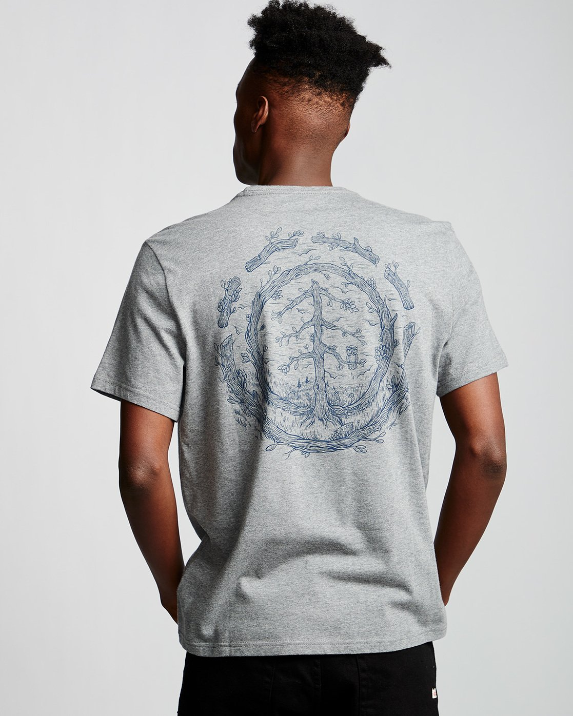 2 Too Late Logo - T-Shirt Grey Q1SSH9ELF9 Element