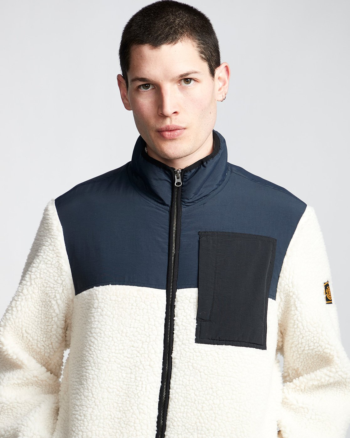 1 Abenaki Warm - Sweat zippé pour Homme Blanc Q1WAA4ELF9 Element