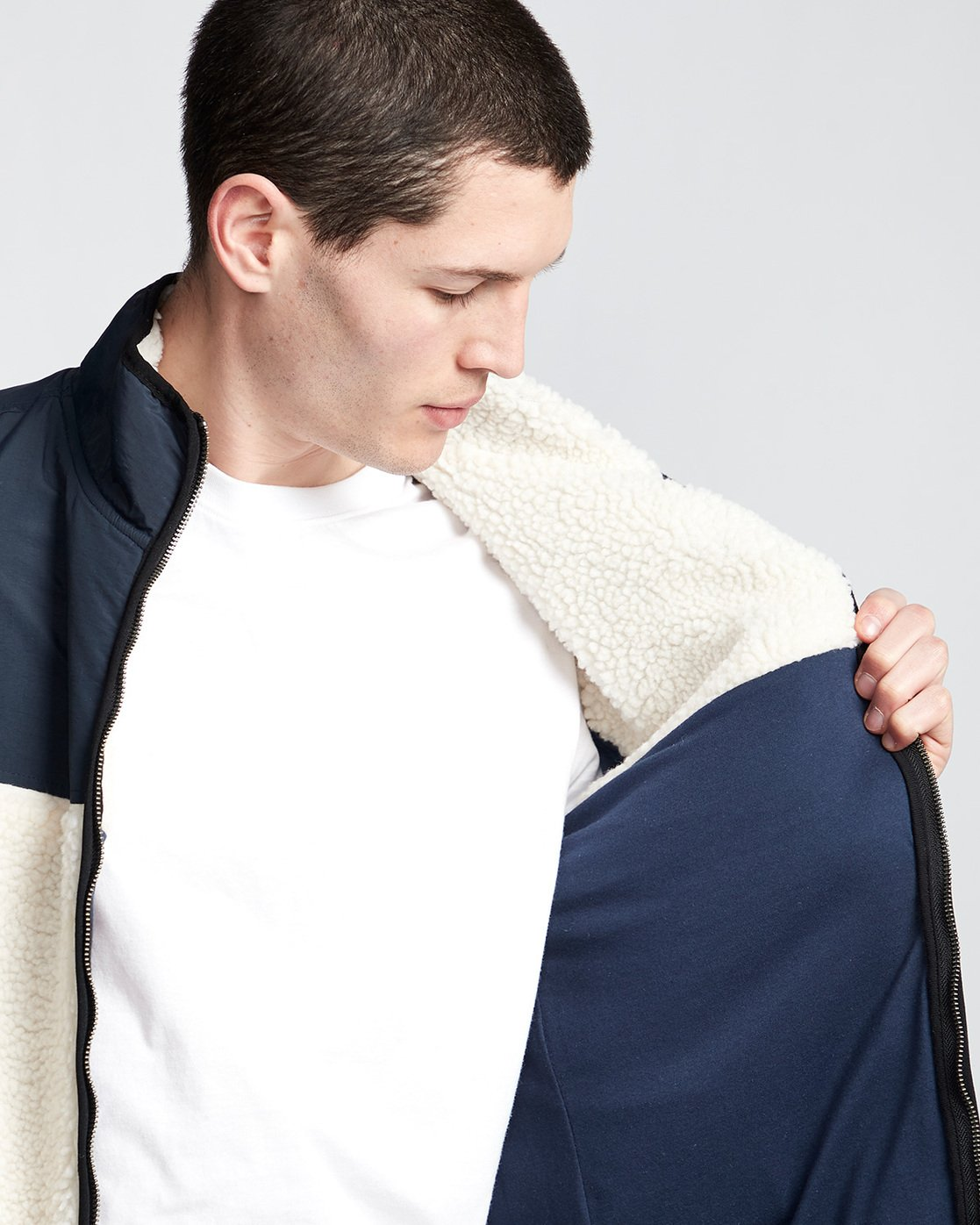2 Abenaki Warm - Sweat zippé pour Homme Blanc Q1WAA4ELF9 Element
