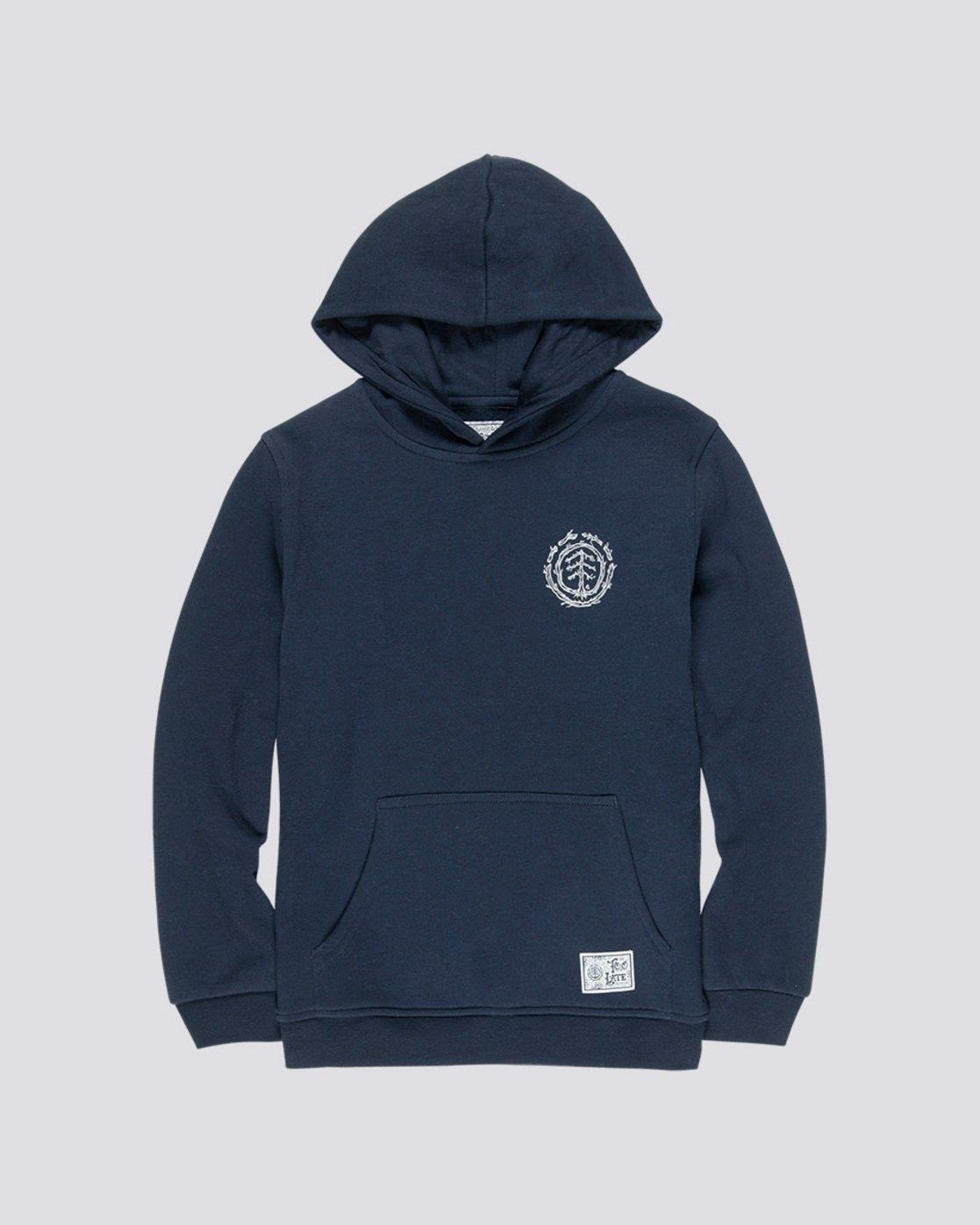 0 Too Late Logo Boy - Sweatshirt Blue Q2HOB1ELF9 Element