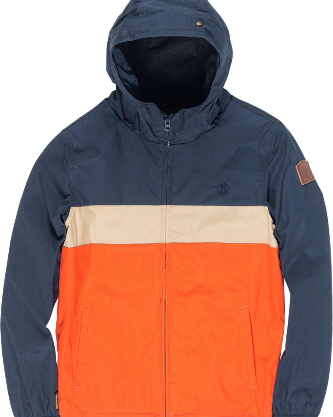1 Alder 3Tones Boy - Giacca con cappuccio da Ragazzo Orange Q2JKA9ELF9 Element