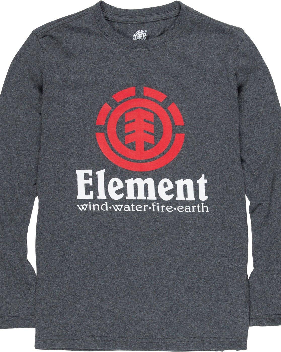 1 Vertical Boy - Long Sleeve T-Shirt Grey Q2LSA2ELF9 Element