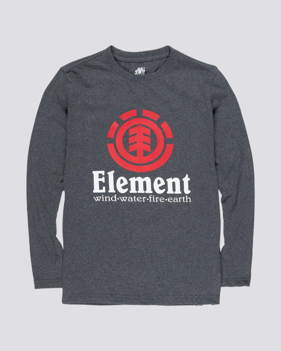 0 Vertical Boy - Long Sleeve T-Shirt Grey Q2LSA2ELF9 Element
