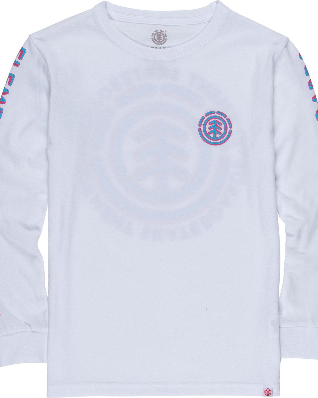 2 Chrome Boy - Long Sleeve T-Shirt White Q2LSA6ELF9 Element