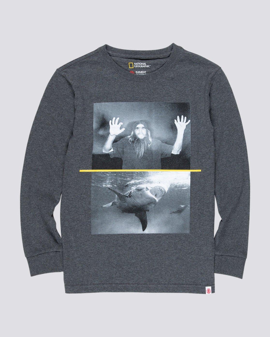 0 Shark Fletcher Boy - Long Sleeve T-Shirt Grey Q2LSA9ELF9 Element