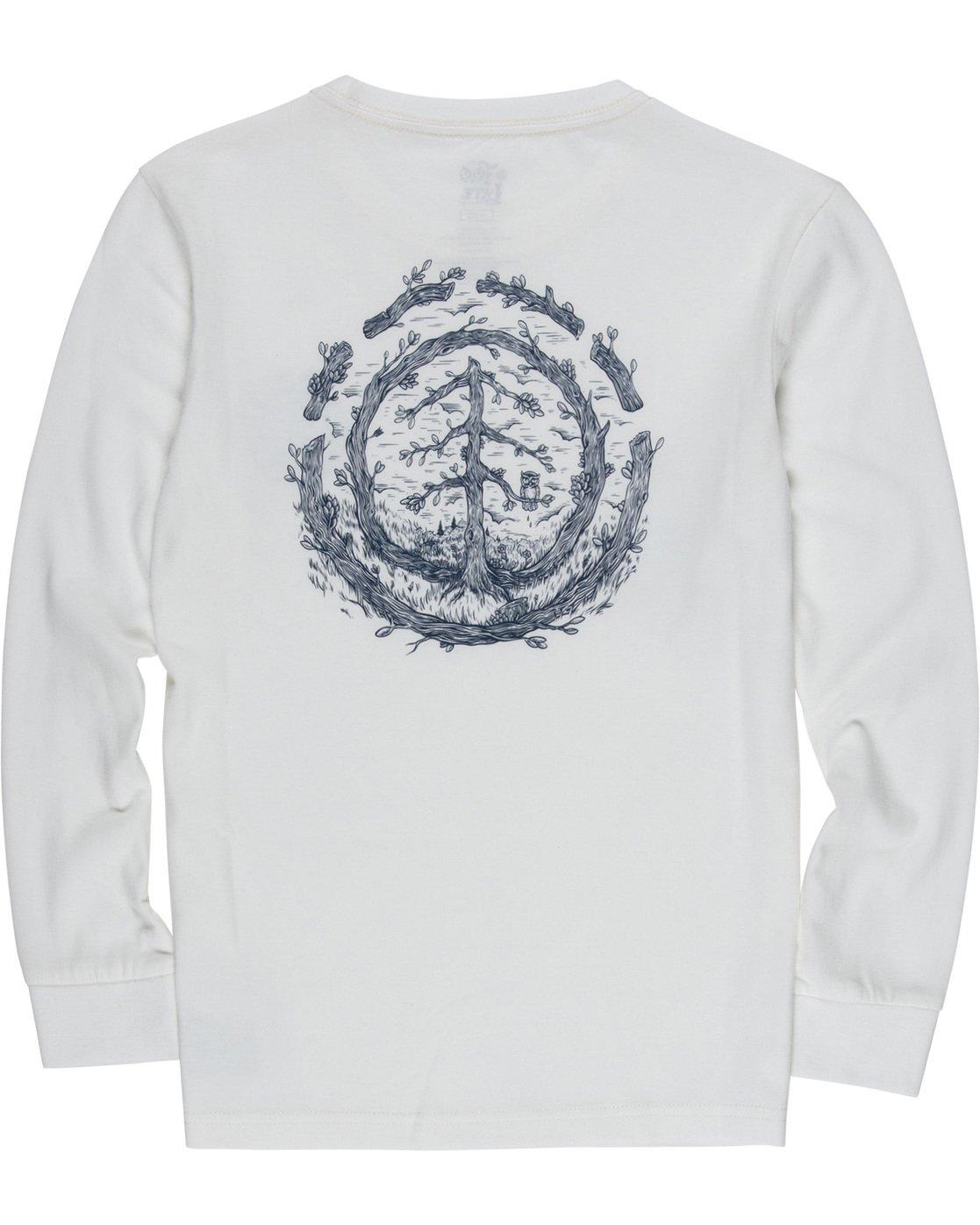 3 Too Late Logo Boy - Long Sleeve T-Shirt White Q2LSB5ELF9 Element