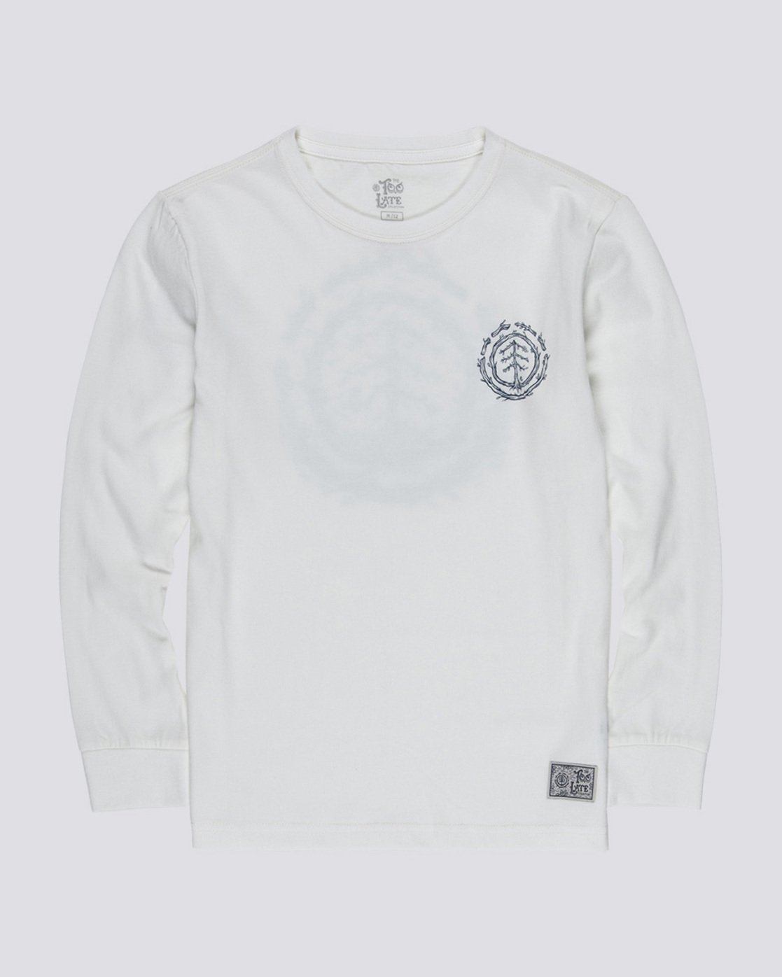 0 Too Late Logo Boy - Long Sleeve T-Shirt White Q2LSB5ELF9 Element