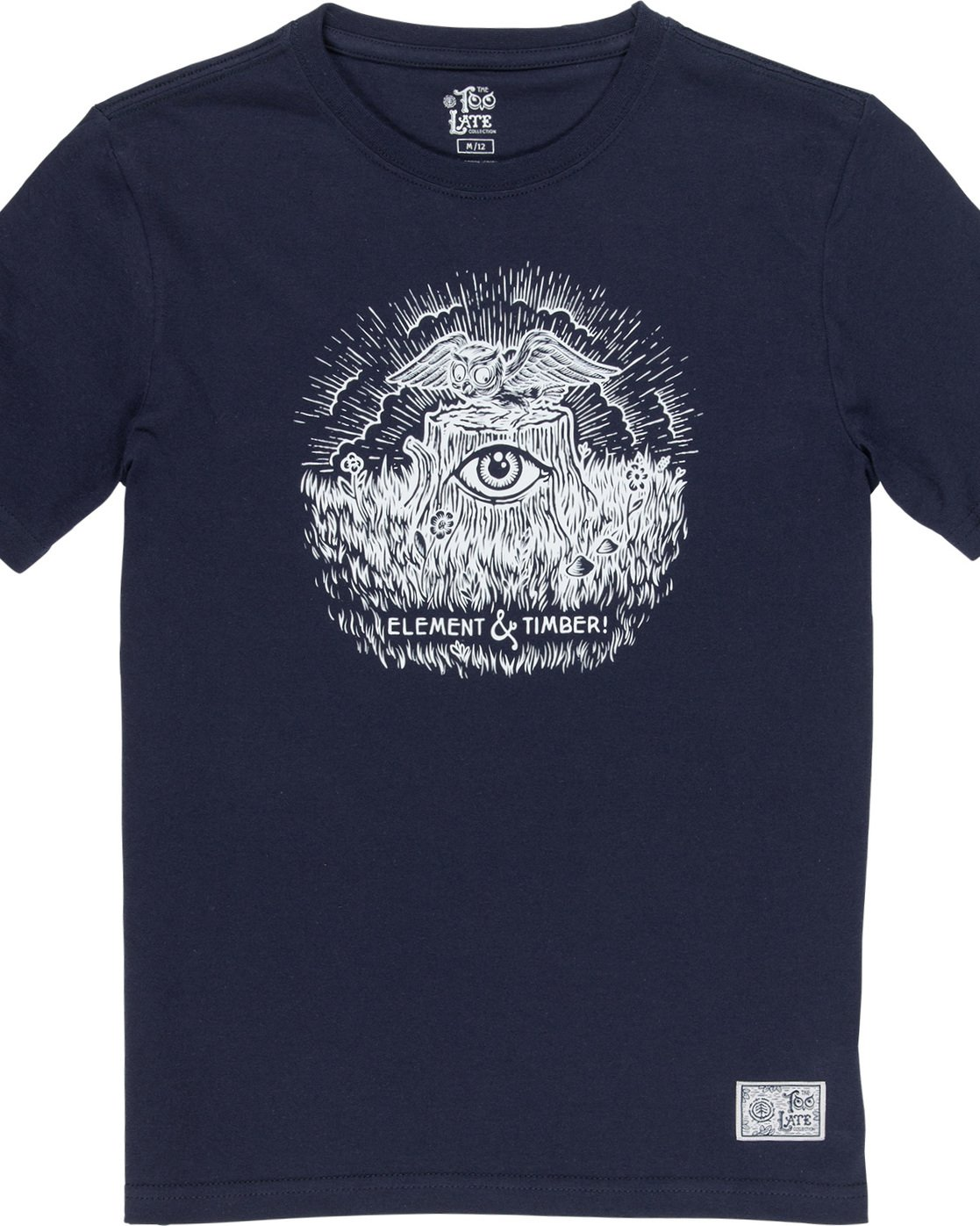 1 Too Late Stump Boy - T-Shirt Blue Q2SSD6ELF9 Element