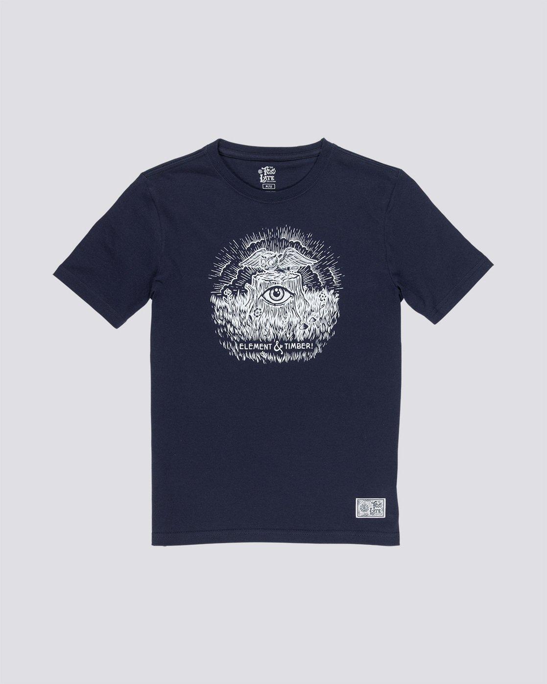 0 Too Late Stump Boy - T-Shirt Blue Q2SSD6ELF9 Element