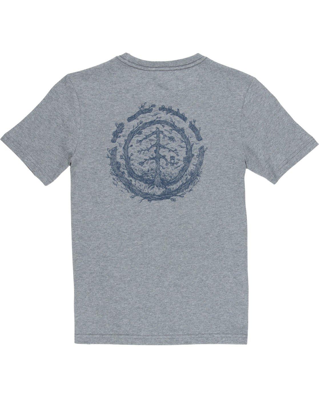 3 Too Late Logo Boy - T-Shirt Grey Q2SSD8ELF9 Element