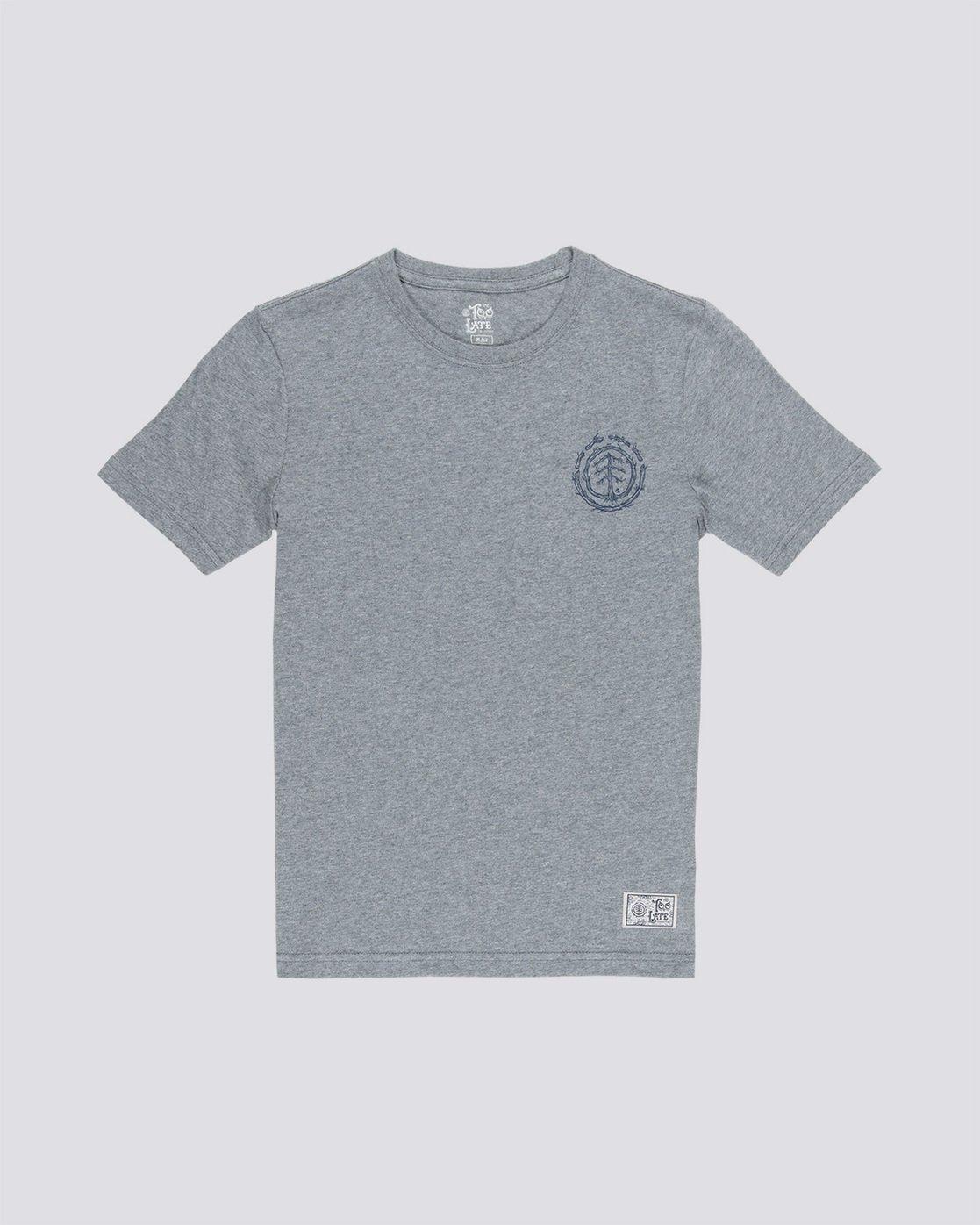 0 Too Late Logo Boy - T-Shirt Grey Q2SSD8ELF9 Element