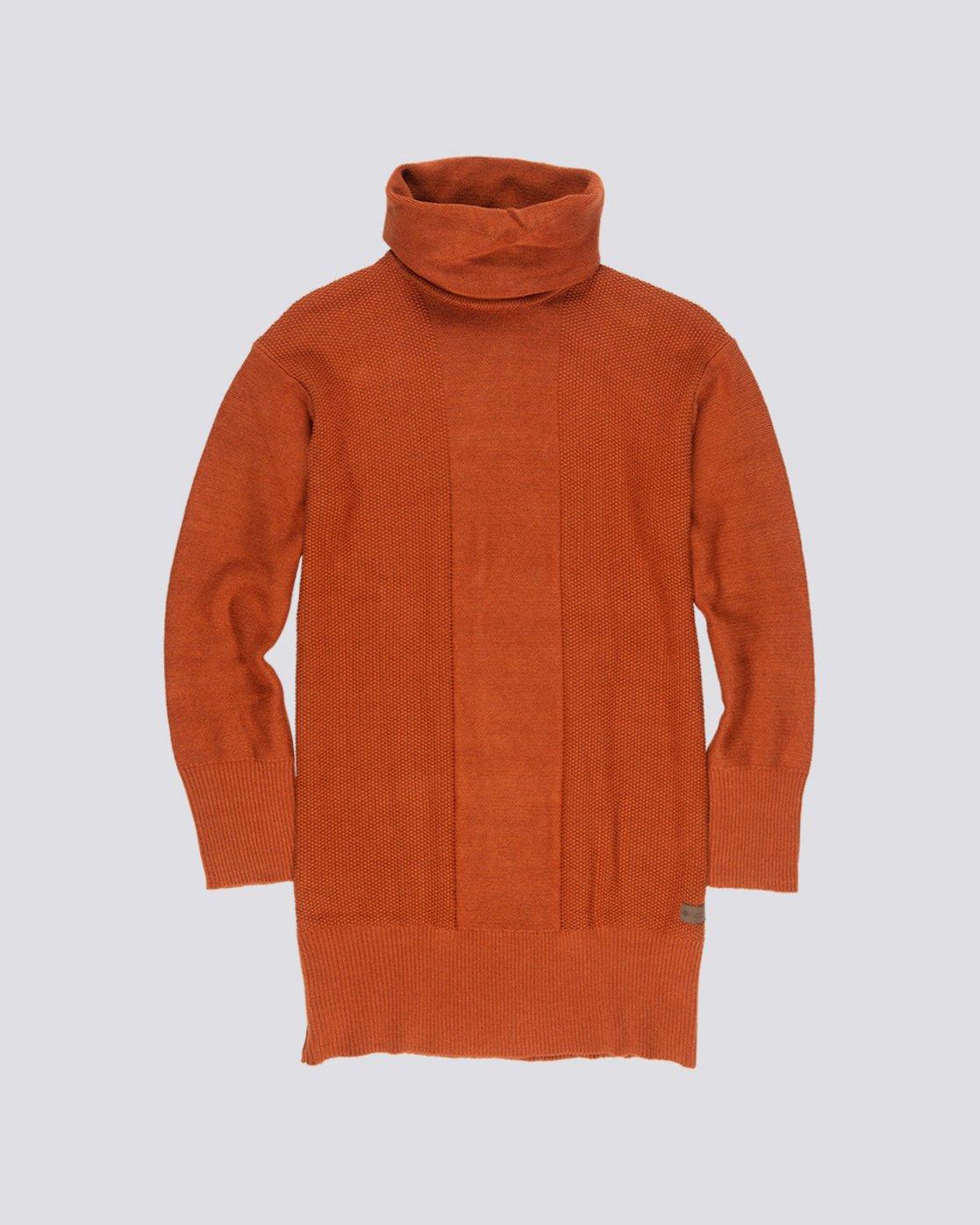 2 Delta - Robe-Pull à col roulé pour Femme Orange Q3DRA5ELF9 Element