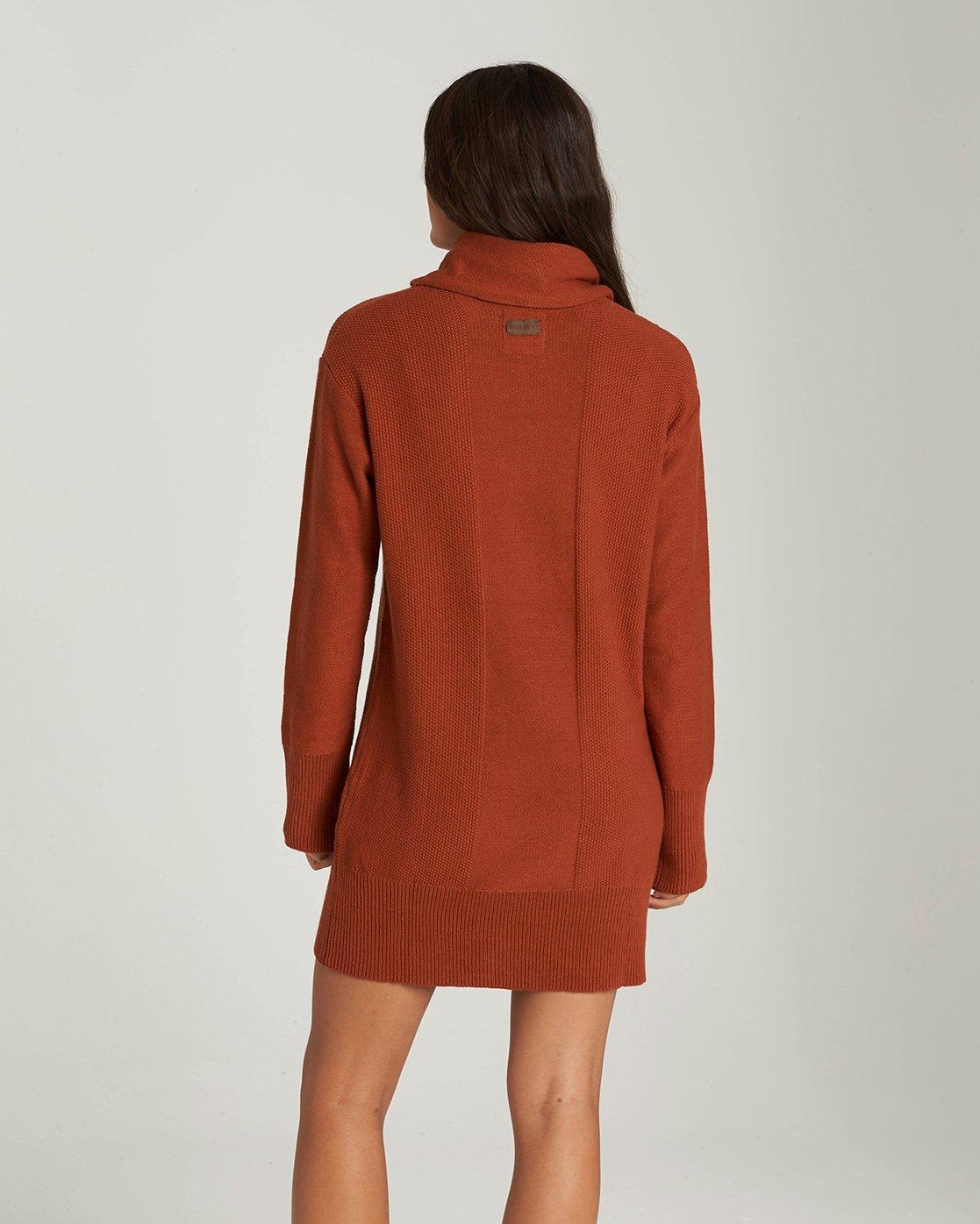 1 Delta - Robe-Pull à col roulé pour Femme Orange Q3DRA5ELF9 Element