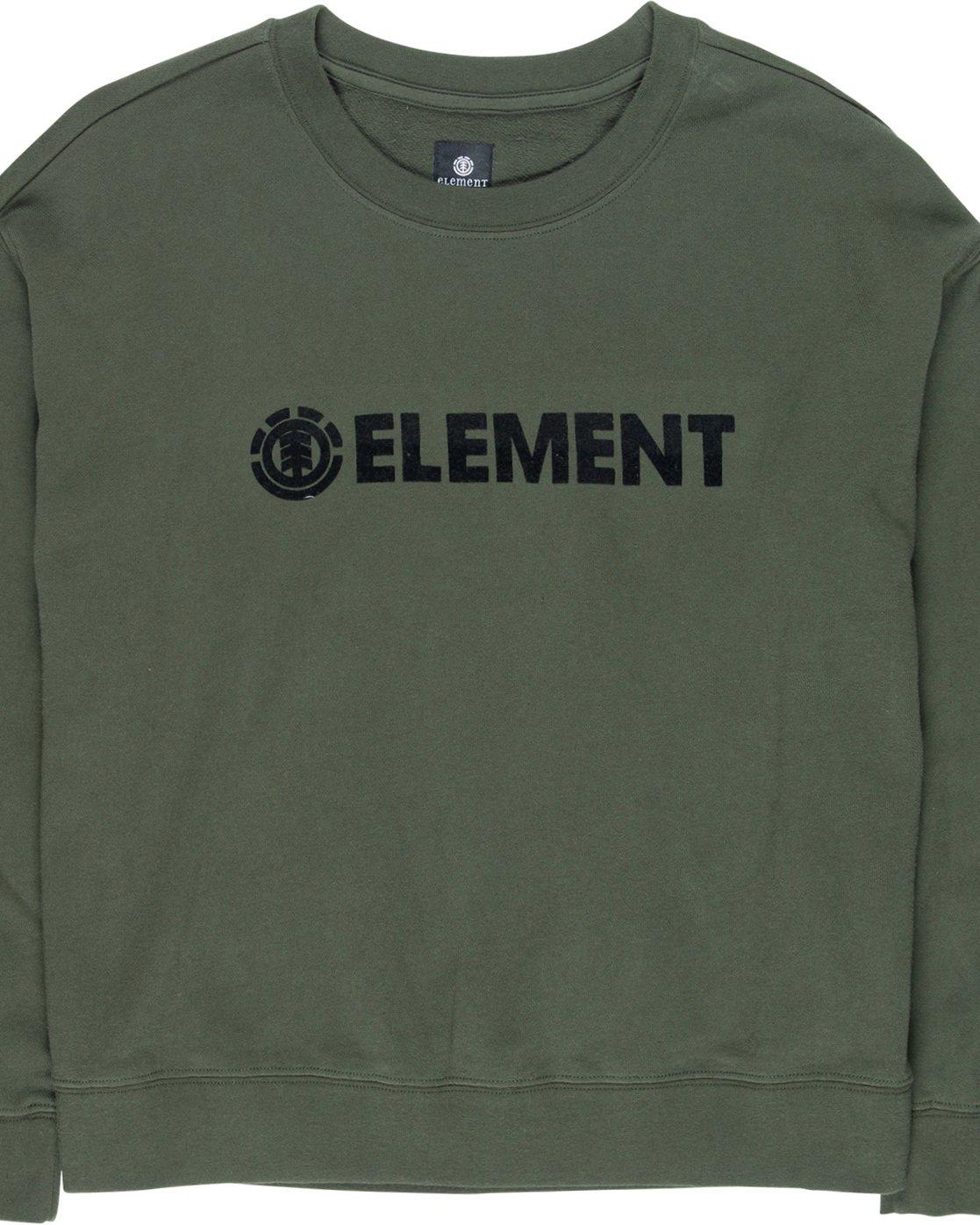 1 Logo - Felpa da Donna Green Q3FLA1ELF9 Element