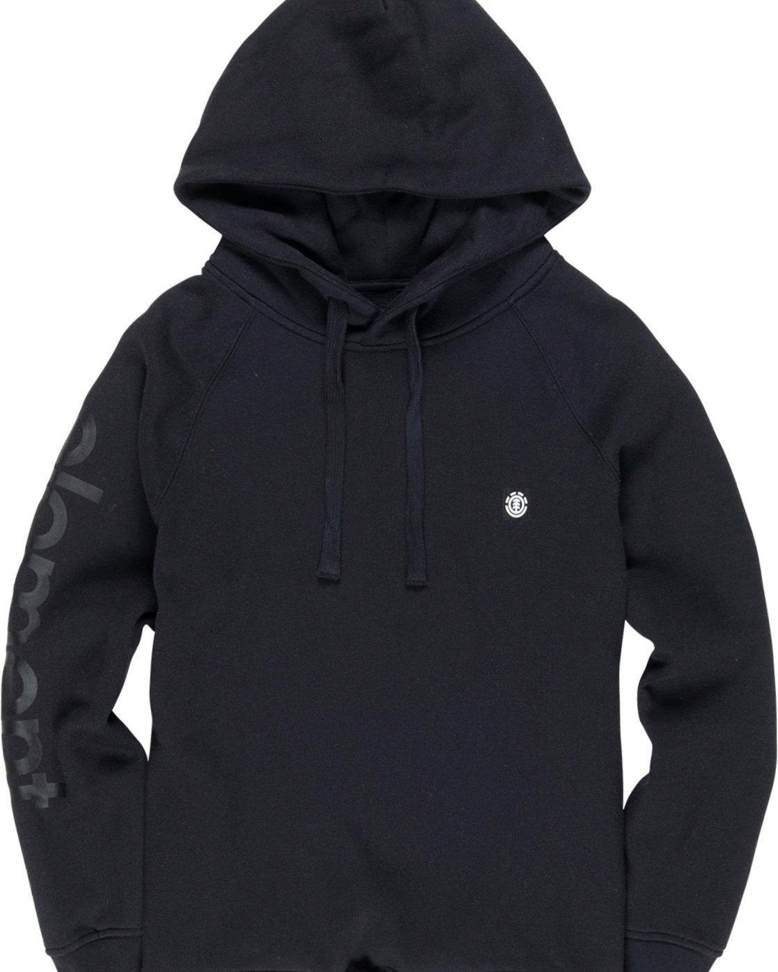 2 Primo - Pull à capuche pour Femme Noir Q3HOA1ELF9 Element